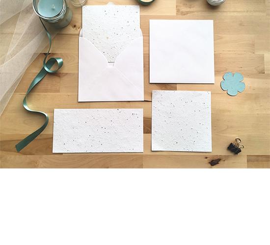 Votre création sur papier ensemencé