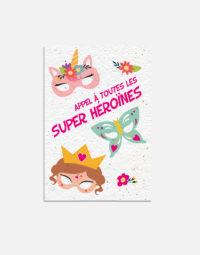 pack-super-heroine-carton-anniversaire-enfant-papierfleur-recto-a-planter-premium